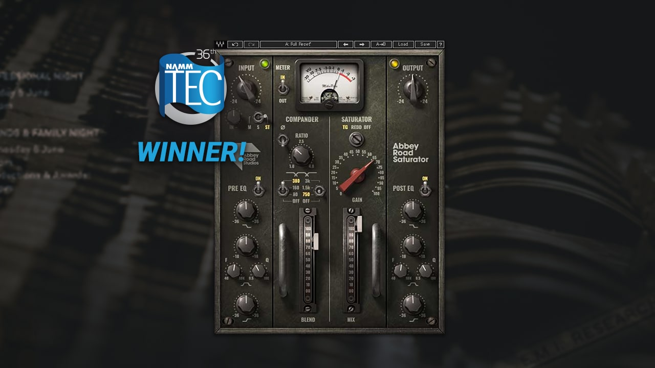 Waves Nominated for NAMM 2021 TEC Awards
