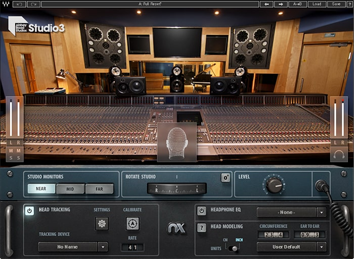 Abbey Road Studio 3 recreates the acoustics of the control room of the studio, and features three virtual monitor pairs you can choose from