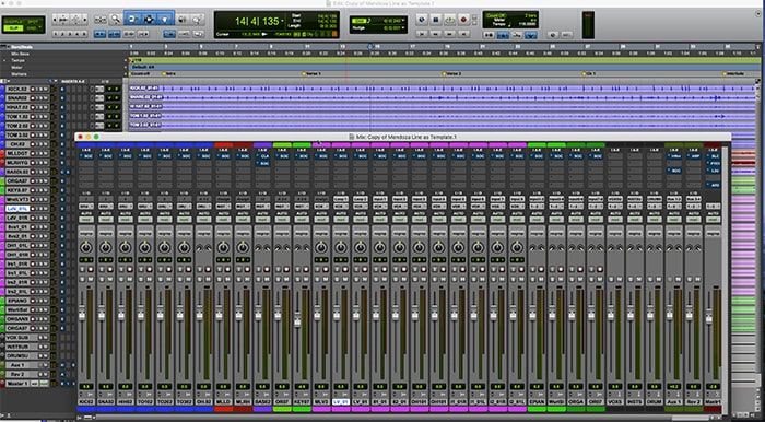 This is the starting point template used for both the conventional headphone mix and the Abbey Road Studio 3 mix
