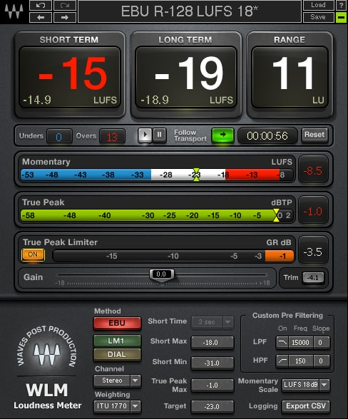 WLM Plus Loudness Meter plugin