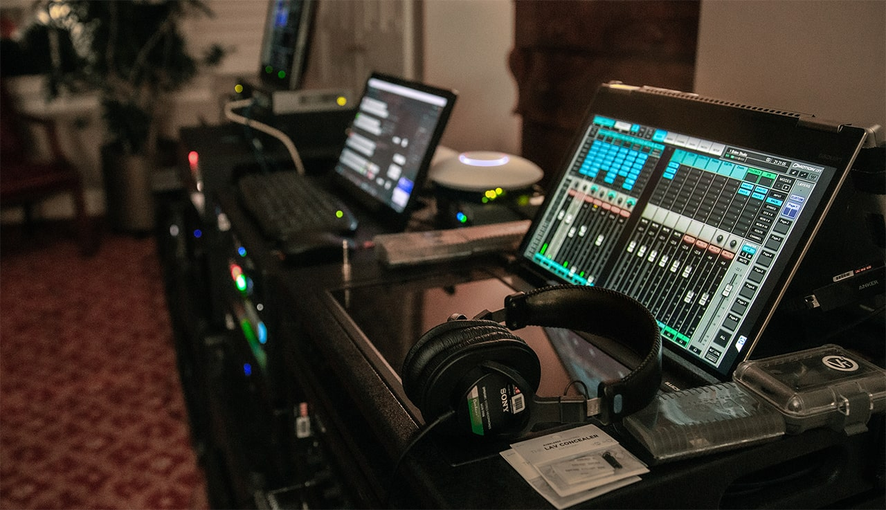 "A Waves eMotion LV1 system at the client's ""remote studio"""
