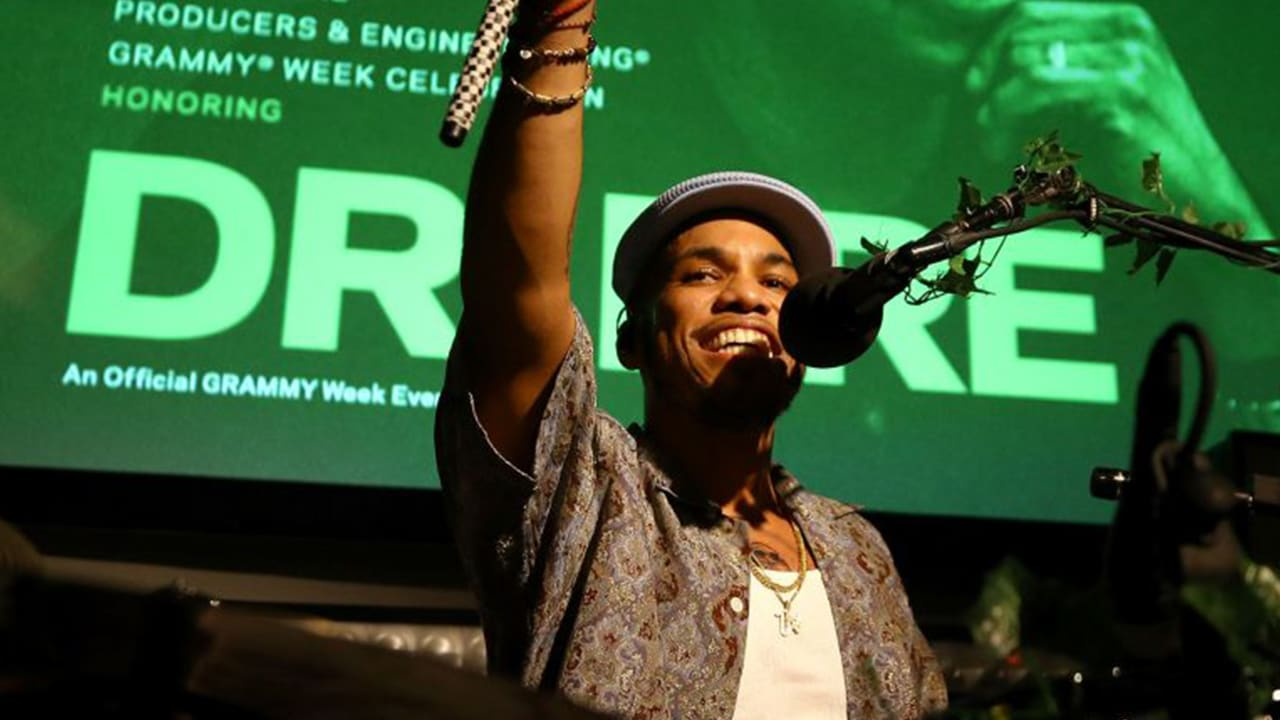 Anderson .Paak performs with the Free Nationals