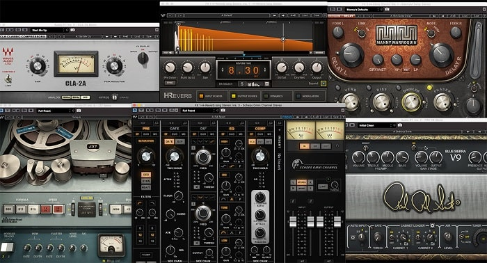 The Waves plugins used to create the sound of audio example 4