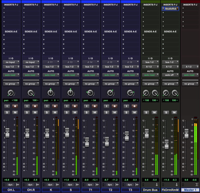 Setting up your drum sub-mix