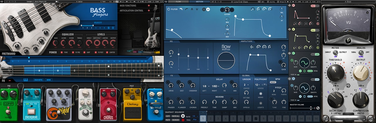 Bass Production and Processing (Bass Fingers, Flow Motion FM Synth, Kramer PIE Compressor)
