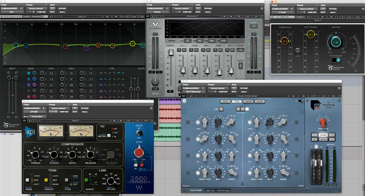 The custom mastering chain settings from example 4