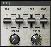 The LoPASS knob has been reduced to filter out high-frequency content.