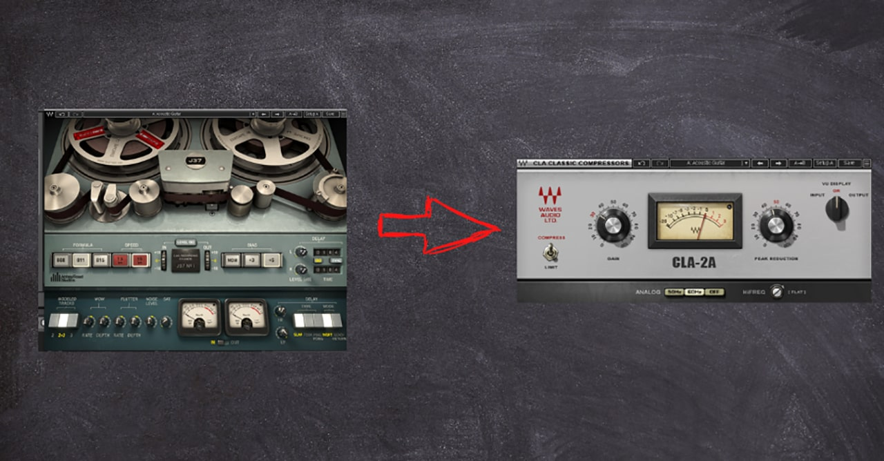The J37 Tape and CLA-2A compressor work together to achieve some truly dynamic analog modeling