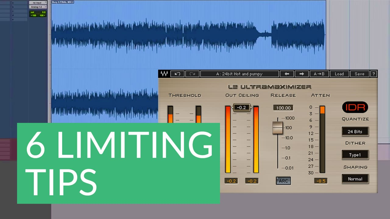 6 Tips for Limiting during Mastering | Waves