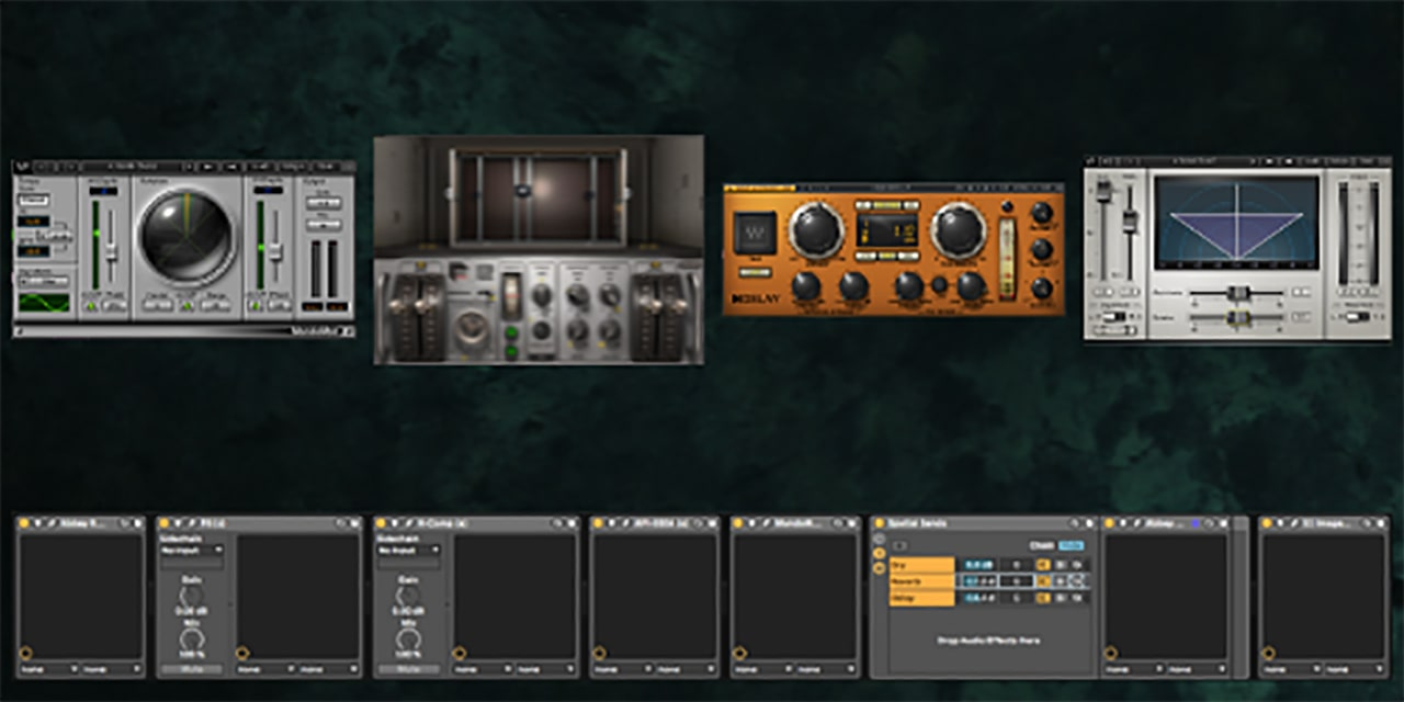 Now it's time to go wild by adding MonoMod, Abbey Road Reverb Plates, H-Delay, and the S1 Imager