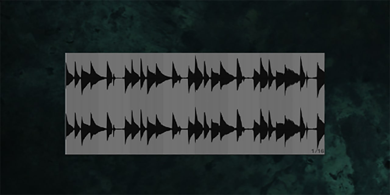 Even the waveform of this stock guitar loop looks narrow and boring
