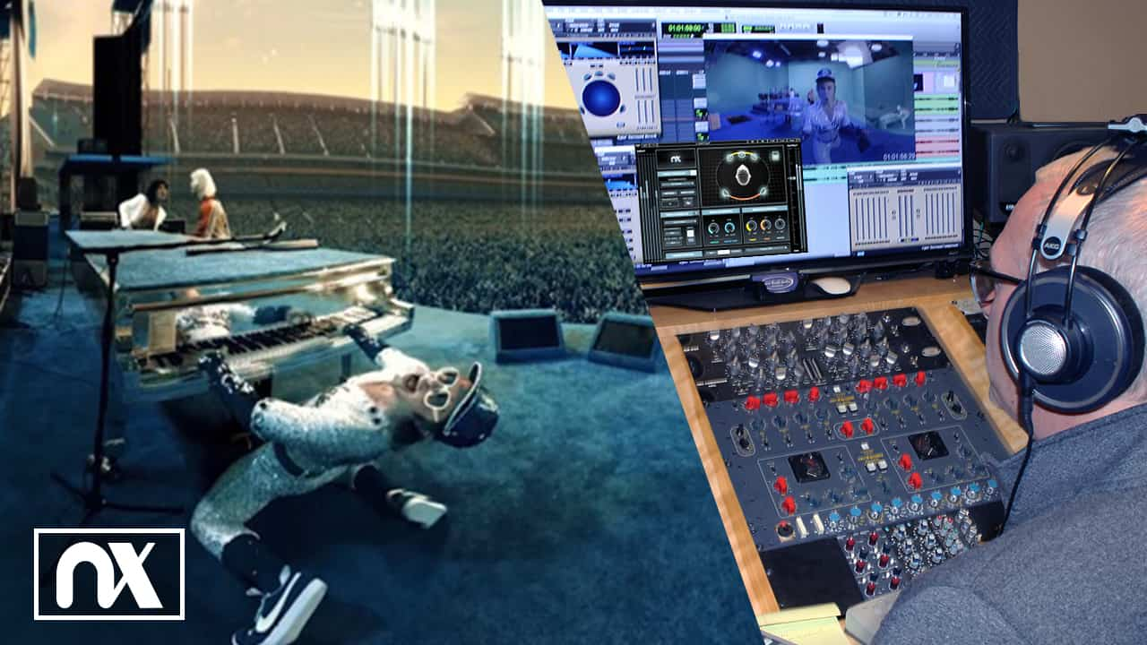 Brian mixing Elton John in 360° with Nx software and head tracker