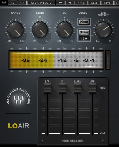 Waves LoAir Subharmonic Generator plugin