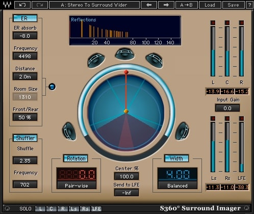 Waves S360 Surround Imager plugin