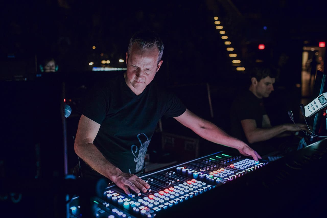 Philip J Harvey mixing Lorde live from FOH