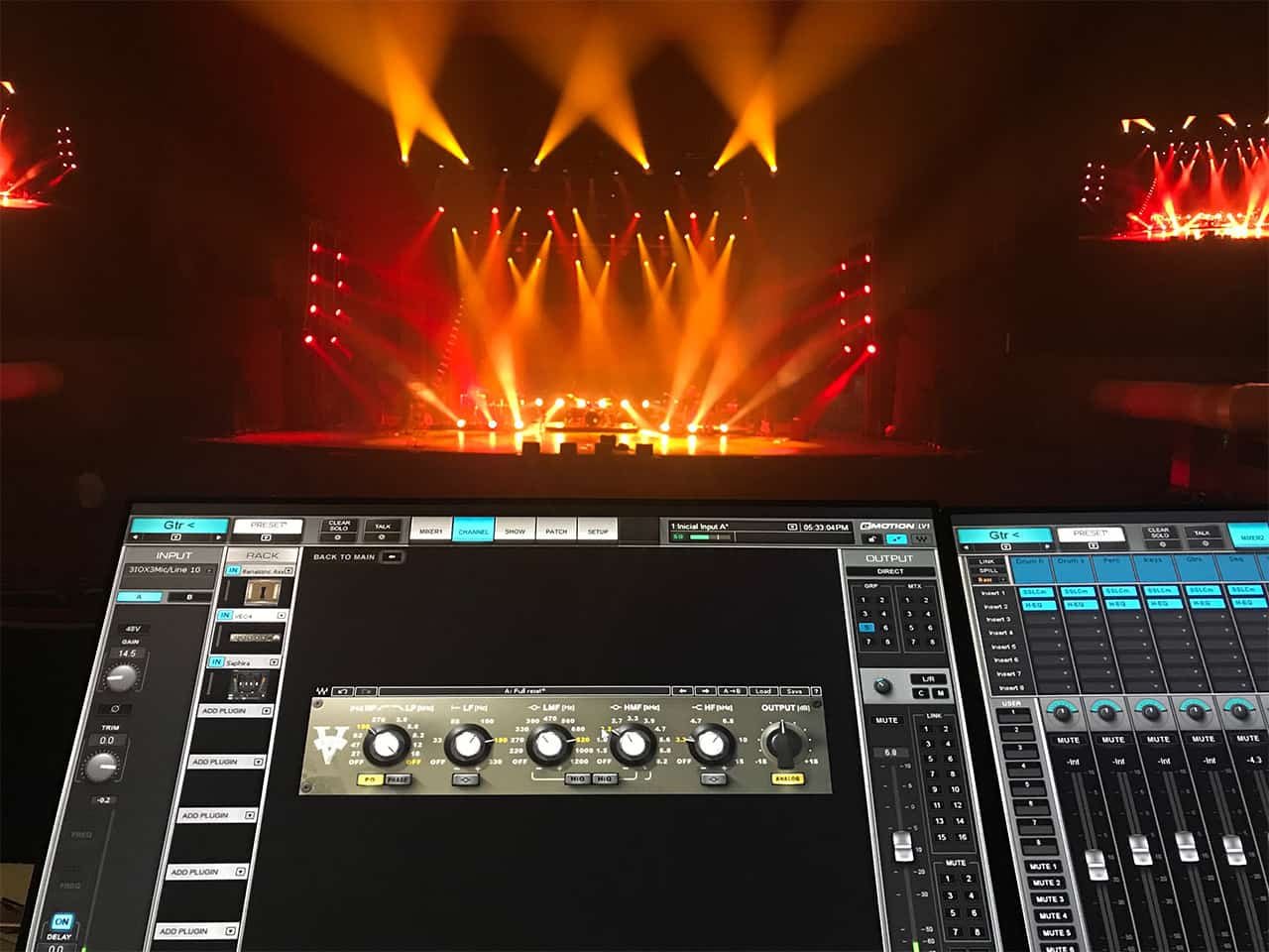 V-EQ4 loaded in the LV1 during virtual soundcheck