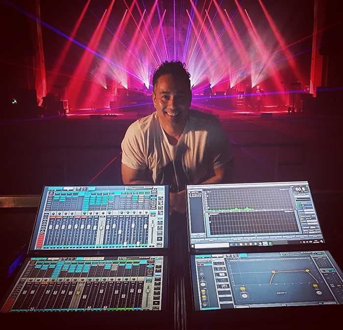 FOH engineer Adam Pendse uses eMotion LV1 to mix every single live show with Editors