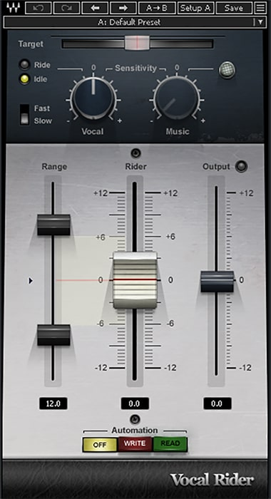 Figure 4: Waves Vocal Rider isn't just good for vocals, but for narration and podcasting as well