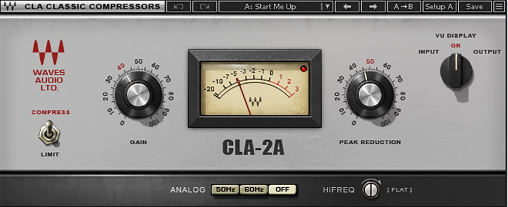 Figure 6: The CLA-2A is easy to adjust, yet over the decades, it has proven its effectiveness with vocals