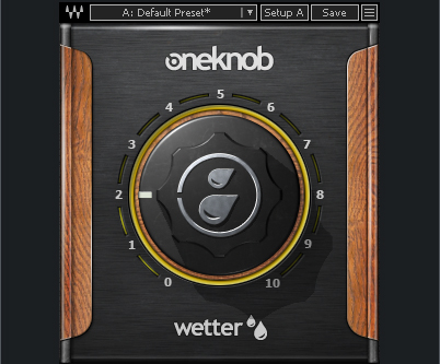 Figure 1: Adding reverb doesn't get much simpler than the OneKnob Wetter