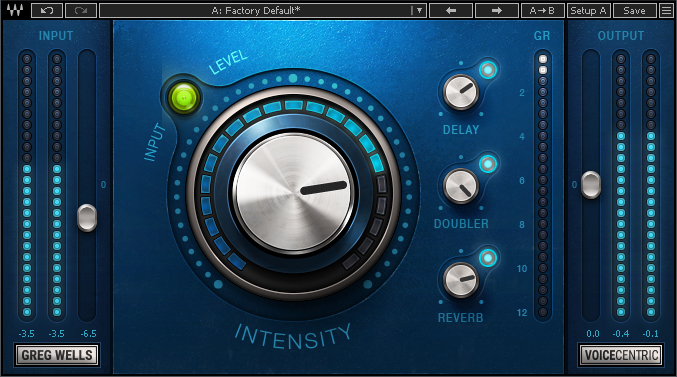 Figure 3: VoiceCentric delivers ambiance optimized for pop and rock vocals