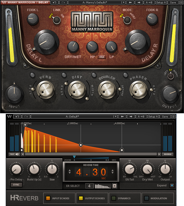 Figure 8: The Manny Marroquin stereo delay precedes the H-Reverb