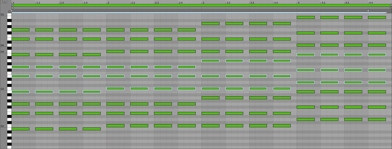 Example 3 – Stacked Chords