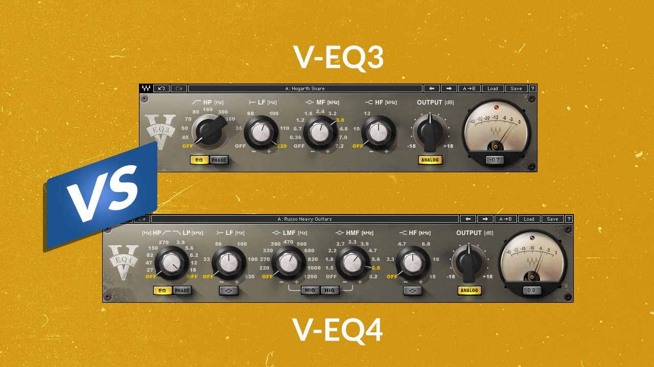 Two Flavors of the Neve Sound Compared: V-EQ3 vs. V-EQ4