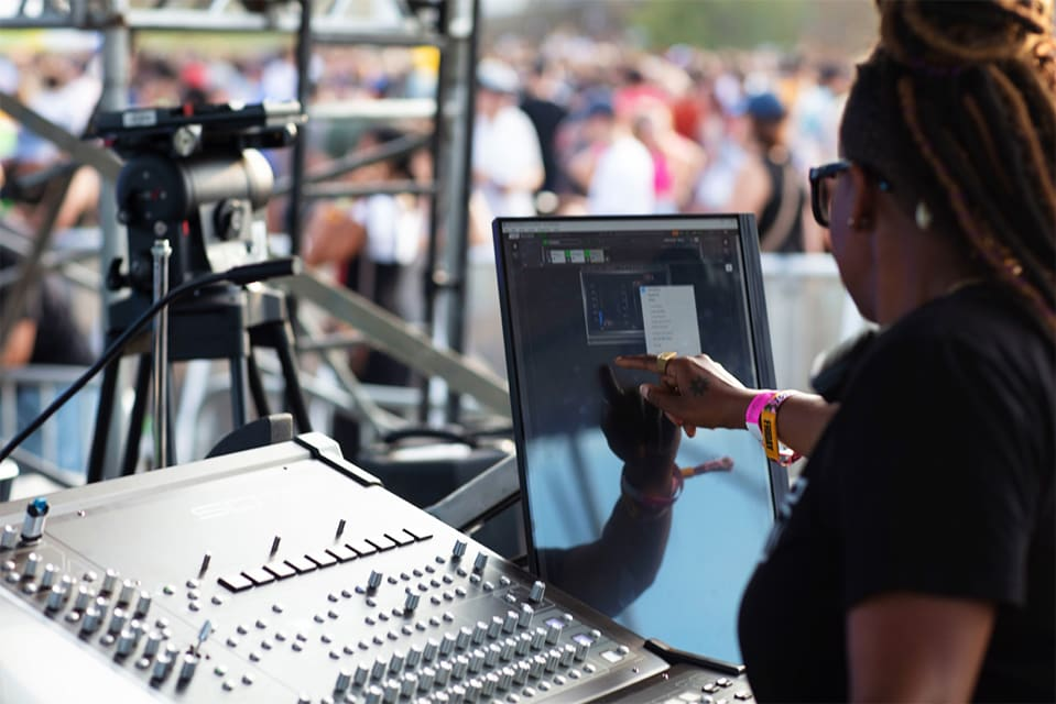Waves on tour with Janelle Monáe and FOH Amanda Davis