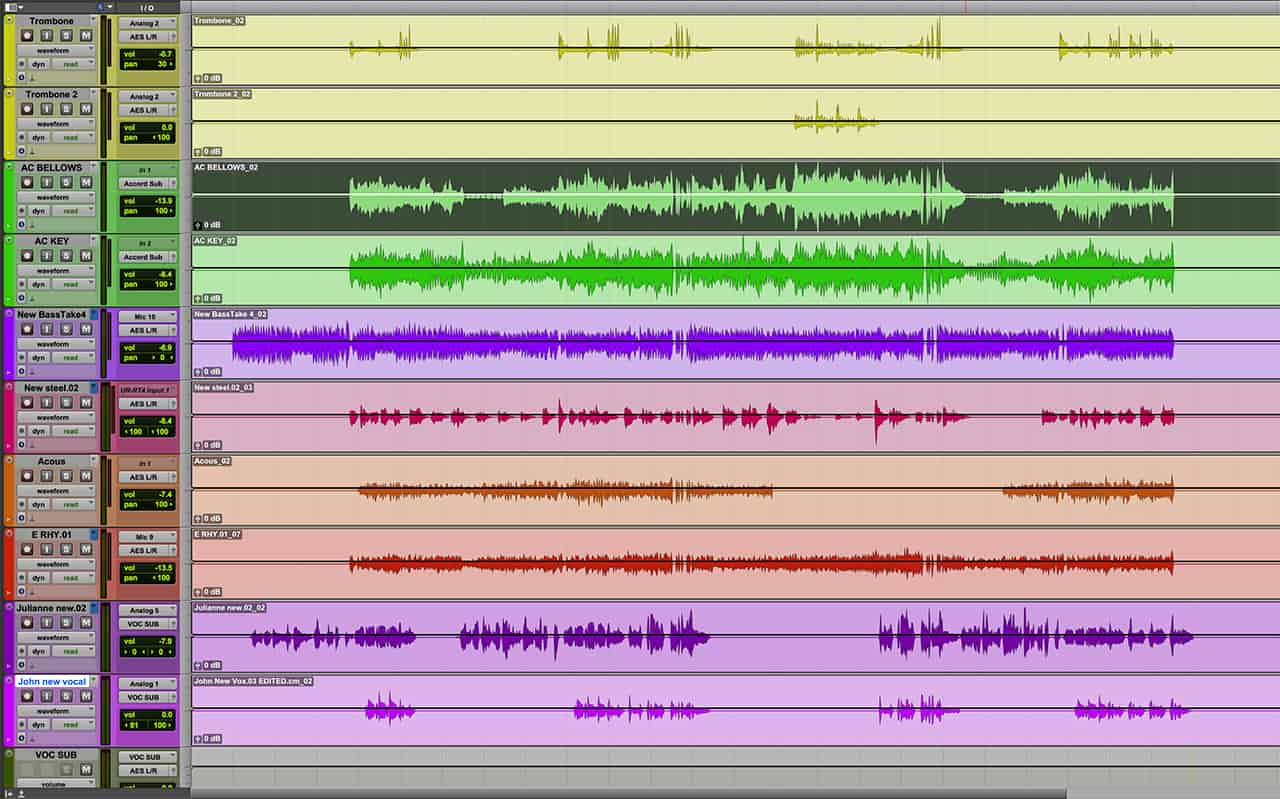 Consolidating your tracks as single files that extend to bar 1, beat 1 of the song, means you'll be able to open them in a different DAW in the future, if need be.