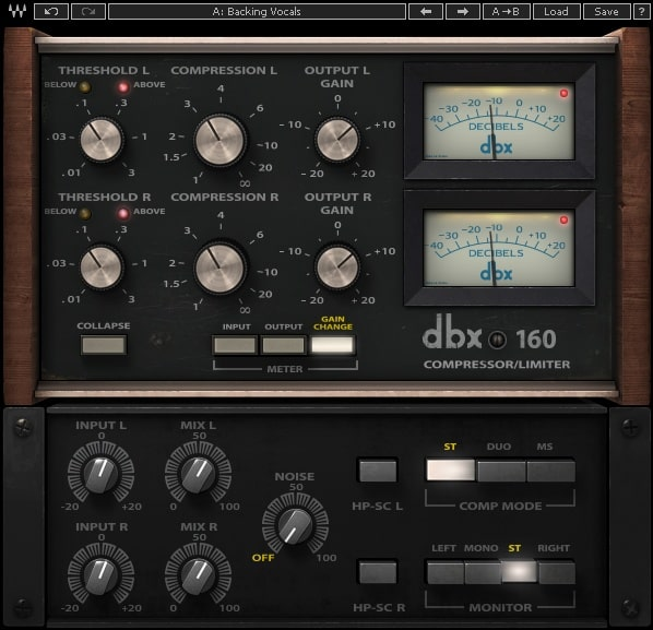 dbx® 160 Compressor / Limiter Plugin | Waves