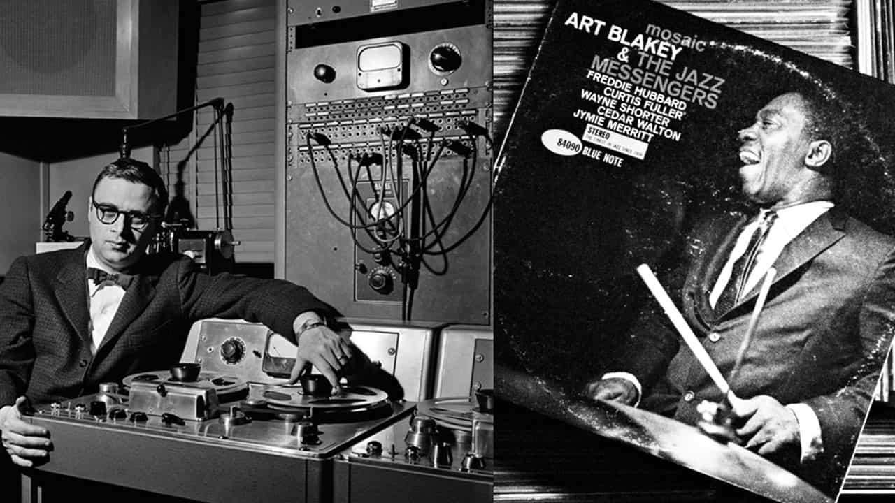 Van Gelder and the Art Blakey and the Jazz Messengers he recorded at his studio, 1961.