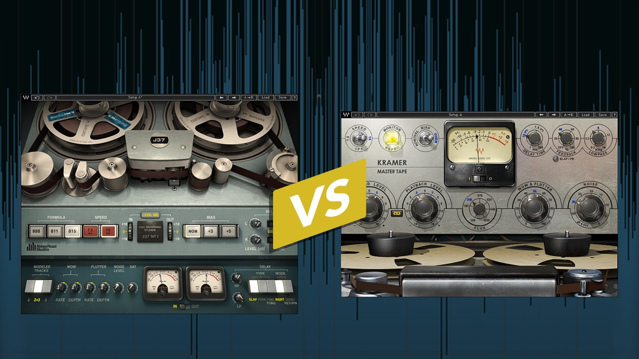 Tape Emulation Plugins Compared: J37 vs. Kramer Master Tape