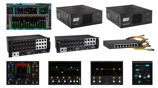 eMotion LV1 + Extreme Server-C + 40-Preamp Stagebox + Axis One