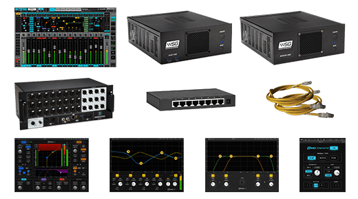 eMotion LV1 + Server One-C + 24-Preamp Stagebox + Axis One