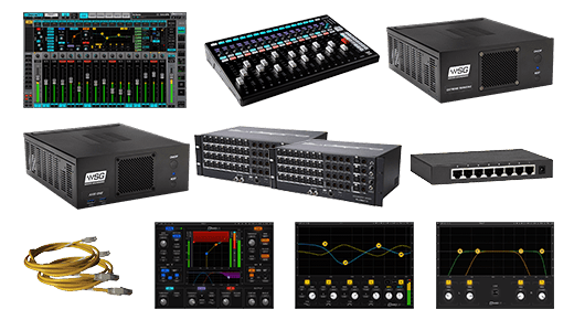 eMotion LV1 + FIT Controller + Extreme Server-C + 64-Preamp Stagebox