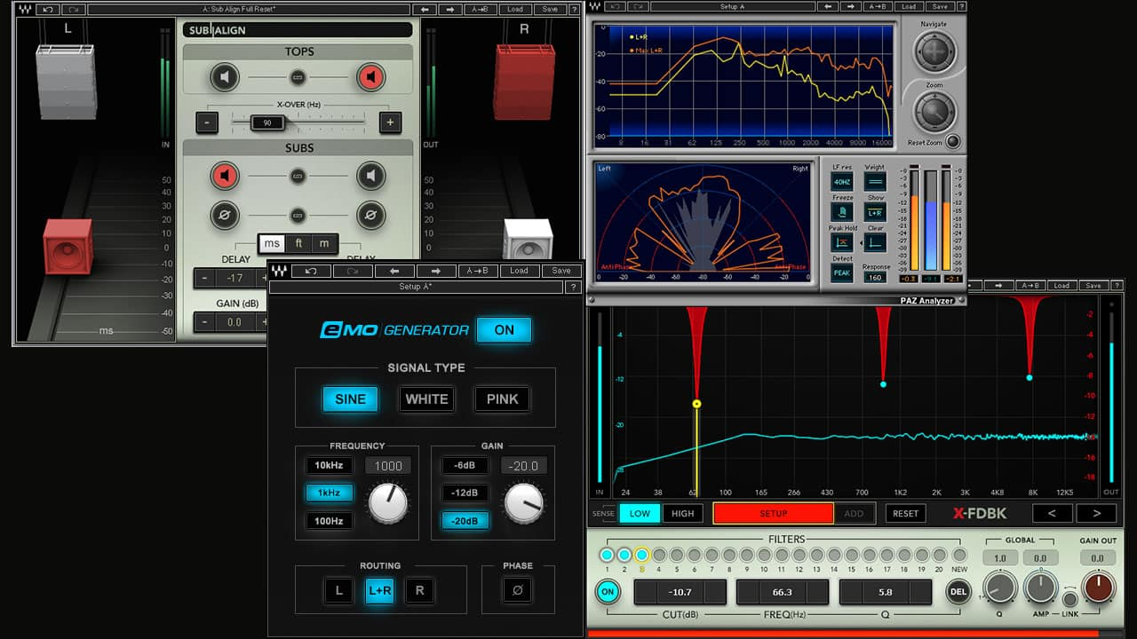 Plugins For Live Sound System Tuning Waves Noise Filter Stereo