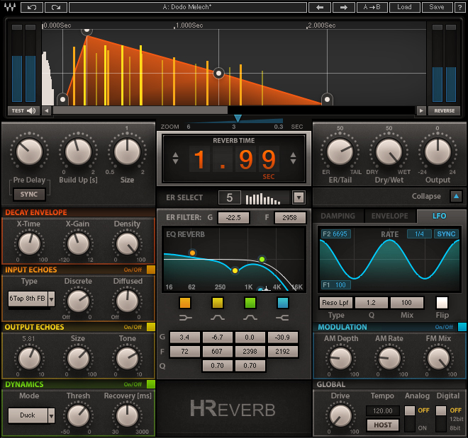 Waves H-Reverb Hybrid Reverb plugin
