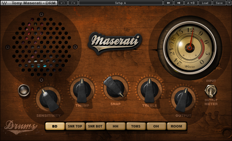 Maserati DRM Drum Slammer Plugin | Waves