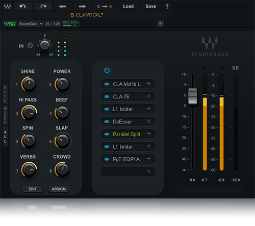 Studiorack Advanced Plugin Chainer Waves