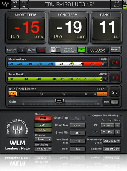 WLM Plus Loudness Meter