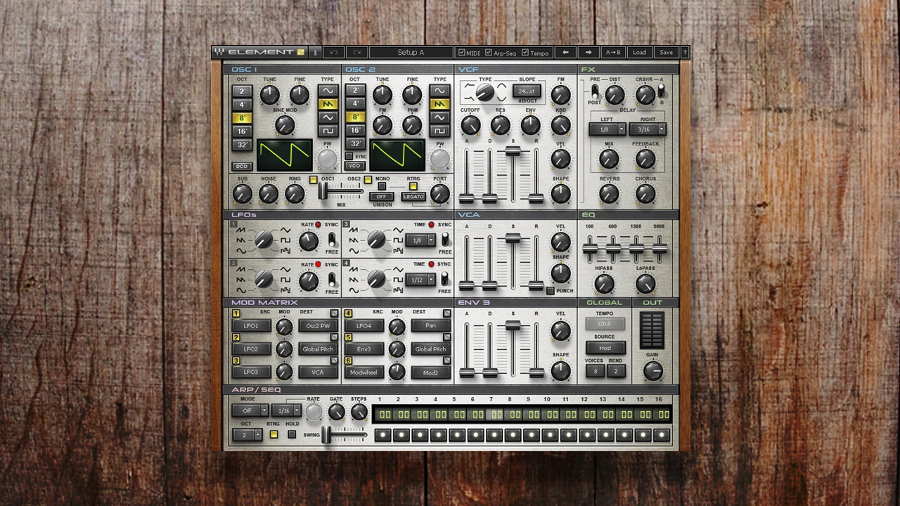 Virtual Analog Synth – Element 2 0   Waves
