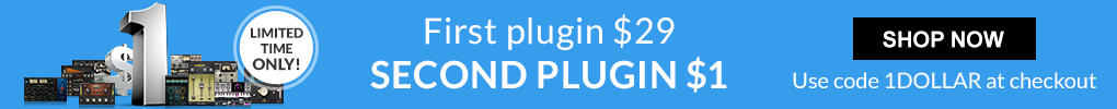 Limited Time only! - Buy any $29 Plugin Get Second for $1