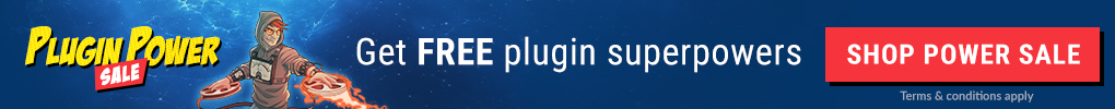Plugin Power Sale - Get Free Plugin Superpowers!