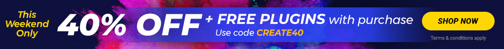 40% OFF + FREE Plugins: Use code CREATE40