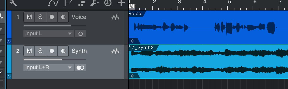Create another track and record or import your instrument signal