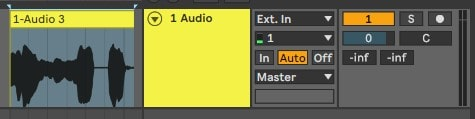 Create a new audio track