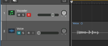 Create an additional Audio track and record or import your vocal signal.