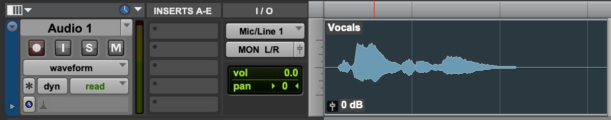 Create a new audio track and record or import your vocal signal.