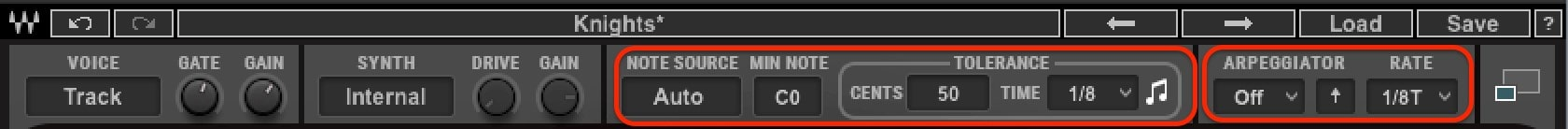 """Use the OVox 'Tolerance"""" control to adjust the density of the created MIDI notes."""